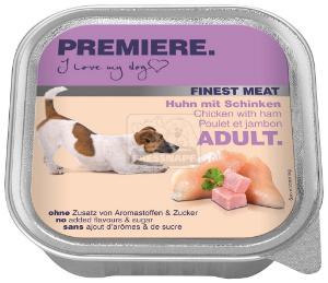 PREMIERE Finest Meat tálkás kutyaeledel csirke+sonka 150g