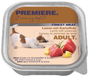 PREMIERE Finest Meat tálkás kutyaeledel bárány+burgonya 150g