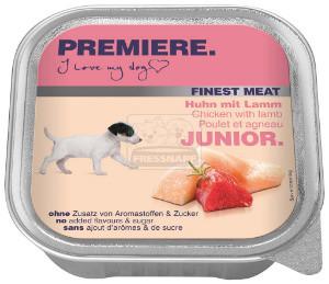 PREMIERE Finest Meat Junior tálkás kutyaeledel csirke 150g