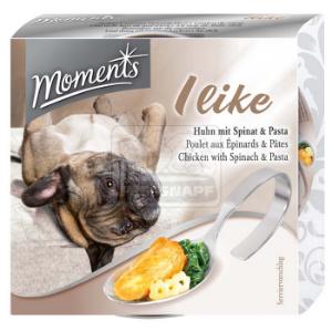 Moments I like kutyakonzerv csirke+spenót+tészta 125g