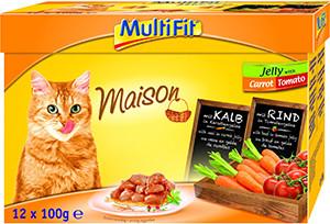MultiFit Multipack tasakos cicaeledel zöldségzselében 12x100g