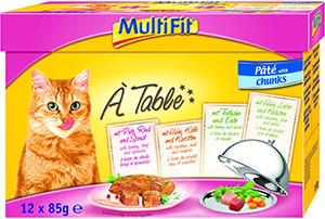 MultiFit Multipack tasakos cicapástétom darabok 12x85g