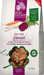 Real Nature Snack kisállatoknak zöldséggel 60g