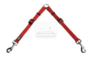 AniOne póráz Classic nejlon piros M/28-44cm