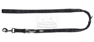 AniOne vezetőpóráz Classic nejlon fekete M/2m/20cm