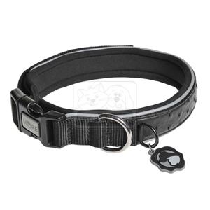 MORE FOR DOGS nyakörv Fashion műbőr fekete M/37-42cm