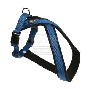 AniOne X-hám Classic nejlon kék M/55cm