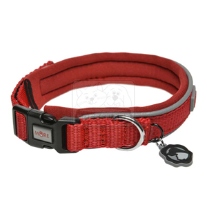 MORE FOR DOGS nyakörv Allround neoprén piros XS/30-34cm