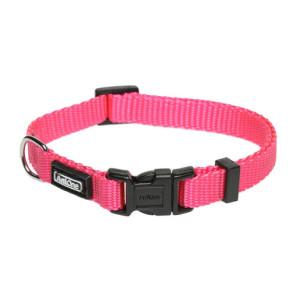 AniOne nyakörv Classic fényvisszaverős nejlon pink L/40-63cm
