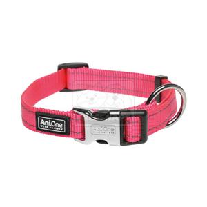 AniOne nyakörv Classic fényvisszaverős nejlon pink M/35-53cm