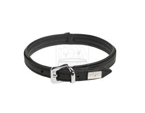 MORE FOR DOGS nyakörv Tradition marhabőr fekete S/30-33cm