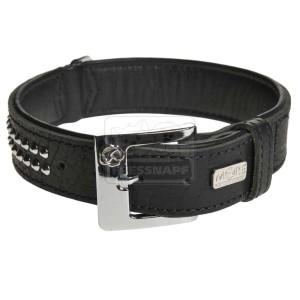 MORE FOR DOGS nyakörv Bully bivalybőr fekete XL/44-52cm