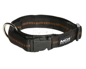 AniOne nyakörv Comfort nejlon fekete M/35-53cm