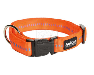 AniOne nyakörv Comfort nejlon narancs M/35-53cm