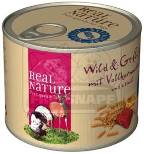 Real Nature vad- és baromfihús kutyakonzerv 200g
