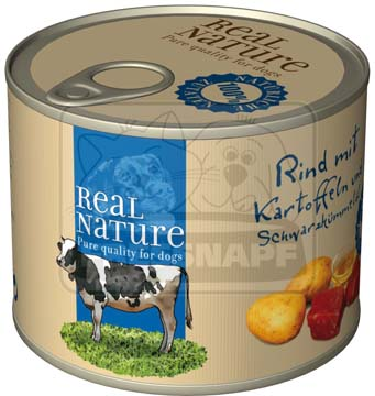 Real Nature marhahús krumplival kutyakonzerv 200g