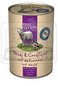 Real Nature kutyakonzerv birka+szárnyas 400g