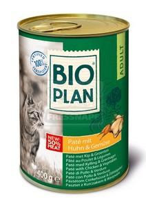 BIOplan konzerv felnőtt cicáknak - csirkehús+zöldség 400g