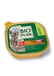 BIOplan tálkás eledel felnőtt cicáknak – marhahús+zöldség 100g