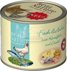 Real Nature hal+csirke konzerv macskáknak 200g