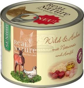 Real Nature senior vad+csirke konzerv macskáknak 200g
