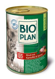 Bioplan cicakonzerv – Marhahús, Burgonya & Spenót 400g
