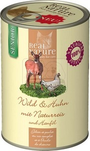 Real Nature senior vad+csirke konzerv macskáknak 400g