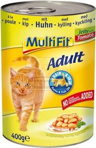 MultiFit cica konzerv csirkehússal, paradicsommal - zselében 400g