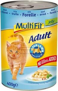 MultiFit cica konzerv pisztránggal – zselében 400g