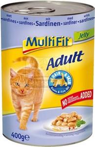 MultiFit cica konzerv szardíniával – zselében 400g