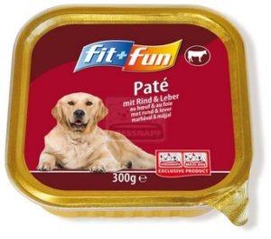 fit+fun kutya tálkás - marhahús&máj 300g