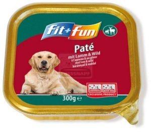 fit+fun kutya tálkás - bárányhús&vadhús 300g