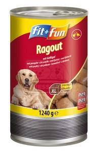 fit+fun kutyakonzerv – baromfival 1240g