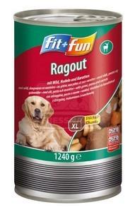 fit+fun kutyakonzerv – vaddal, tésztával és karottával 1240g