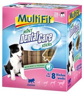 MultiFit Mint DentalCare fogtisztító rudak Junior 28db-os 252g