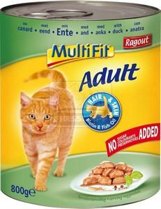 MultiFit cica konzerv kacsahússal 800g