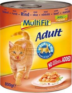 MultiFit cica konzerv marhahússal és répával 800g