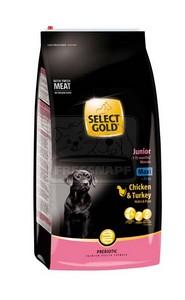 SELECT GOLD classic Junior Maxi csirke&pulyka száraztáp kölyök- és fiatal kutyáknak 12kg