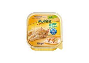MultiFit light at home tálkás cicaeledel – pulykahús zselében – 100g