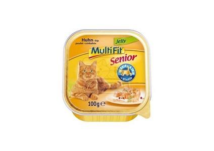 MultiFit senior tálkás cicaeledel – csirkehús zselében – 100g