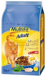 MultiFit Adult száraz cicaeledel hallal 2kg