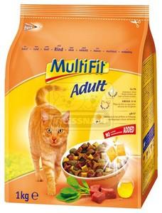 MultiFit Adult száraz cicaeledel marhával 1kg
