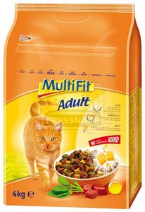MultiFit Adult száraz cicaeledel marhával 4kg