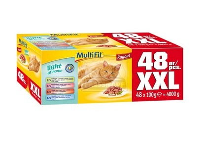 MultiFit cica tasakos ragu light at home 48x100g