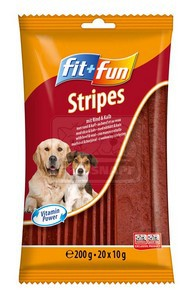 fit+fun Stripes jutalomfalat 200g marha-borjú