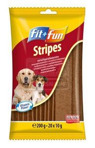 fit+fun Stripes jutalomfalat 200g szárnyas-máj