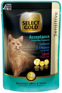 Select Gold sensitive alutasakos lazac és csirke 85 g