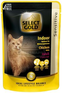 Select Gold sensitive Indoor chicken 85 g