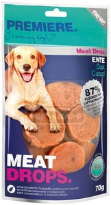 PREMIERE dog MEAT DROPS duck, 70 g
