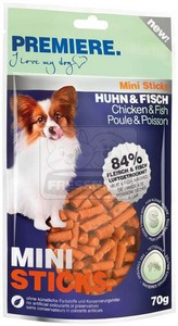 PREMIERE dog MINI STICKS chicken+fish, 70 g
